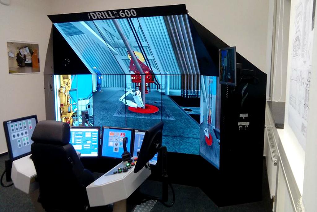 Буровой тренажер виртуального присутствия бурения скважин